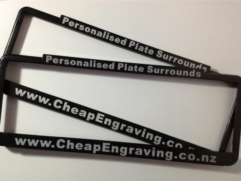 Personalised Number Plate Frames (Black)